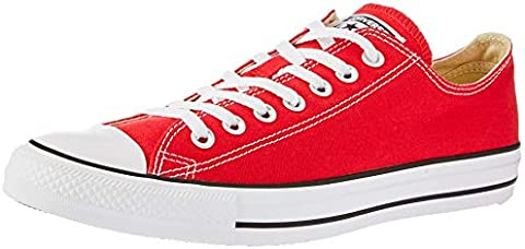 Converse Unisex Chuck Taylor All Star Low Top Red Sneakers - 5 B(M) US  Women   3 D(M) US Men (B0000AFSZV)  25403ebf5