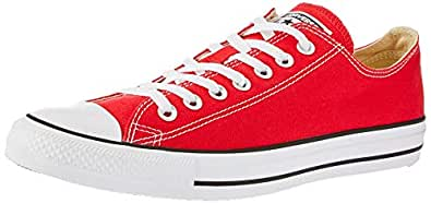 Converse Unisex Chuck Taylor All Star Low Top Red Sneakers - 4.5 D(M) US