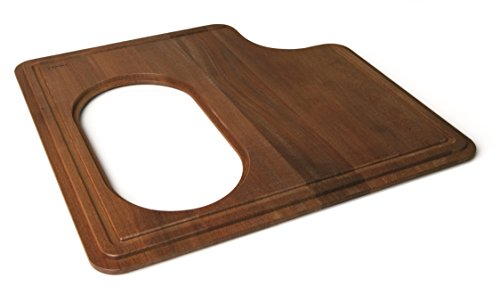 Franke Stainless Steel Cutting Board - Franke PS19-45SP Professional Solid Wood Cutting Board with Stainless Steel Colander