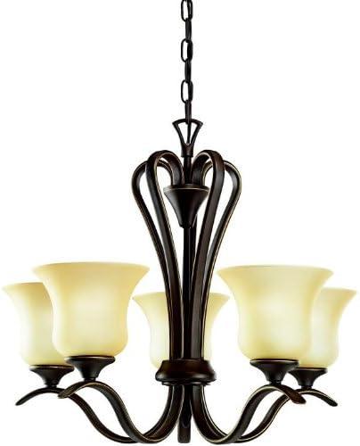 Kichler 2085OZ, Wedgeport Glass Chandelier Lighting, 5 Light, 500 Total Watts, Olde Bronze