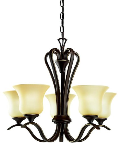 Kichler 10740OZ Wedgeport Chandelier 5-Light Fluorescent, Olde Bronze