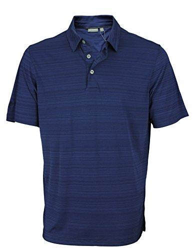 Ashoworth Mens Performance Interlock Melange Polo (Large, (Interlock Golf Shirt)