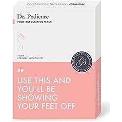 Dr. Pedicure Foot Exfoliation Peeling Mask   For Baby Smooth Soft Feet, Dry Dead Skin Natural Treatment, Repair Rough Heels, Callus Remover, Soak Socks Booties, Get Gentle Feet, XL (1 Pair)