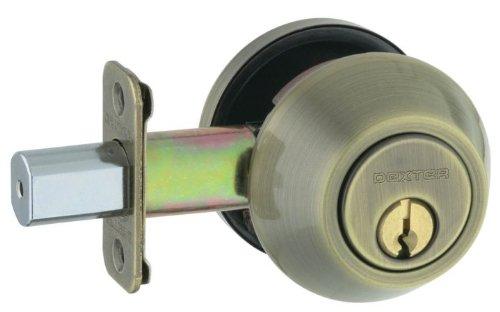Dexter by Schlage JD62V609 Double-Cylinder Deadbolt, Antique Brass (Dexter Locks)