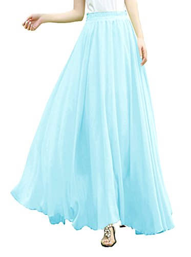 v28 Length Elastic Pleated Chiffon product image