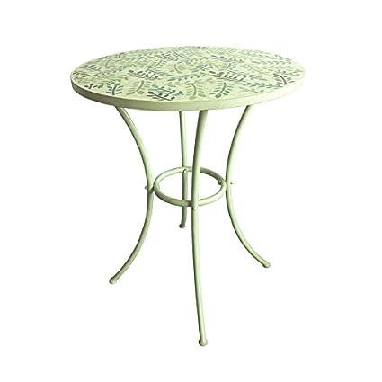 Amazon Com Garden Treasures Shadyside Tile Top Antique White Round