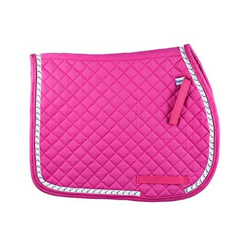 Perri's Ribbon Trim All-Purpose Saddle Pad (Pink Unicorns, Pony) ()