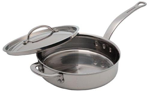 KitchenAid Five-Ply Stainless-Steel Clad 3-Quart Saut Pan with Lid and Helper (3 Quart Saut Pan)