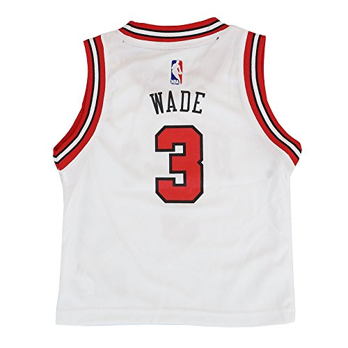 Outerstuff Dwyane Wade Chicago Bulls NBA White Home Replica Jersey Toddler Size (Toddler Nba Jerseys)