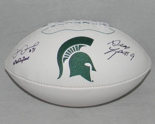 Darqueze-Dennard-Isaiah-Lewis-Signed-Michigan-State-Spartan-Football-No-Fly-Zone-Autographed-College-Footballs