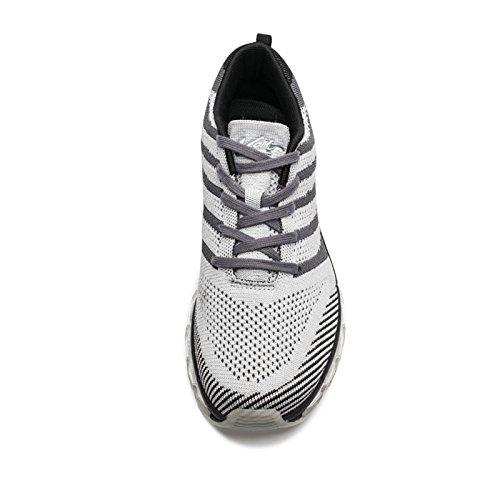 VOITCN Mens Leichte Luftpolster Outdoor Sport Laufschuhe Sportlich Casual Sneakers Grau