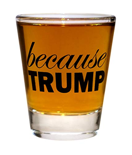 Because Trump Shot Glass | Set of 1 | Anti Trump Funny Gag Gift | Birthday Gift for men or women by Gift Squadron