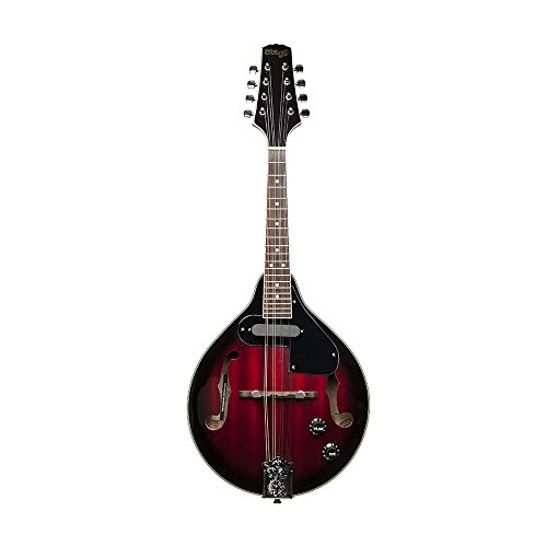 Stagg M50E Acoustic-Electric Bluegrass Mandolin with Nato Top - Redburst