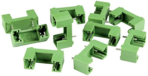 ASI PTF-76-10 5 x 20 mm PCB Fuse Holder for Printed Circuit Board Mount, 15 mm Pin Spacing, No Center Pin, 10 Amp, 250V, UL (Pack of 10)