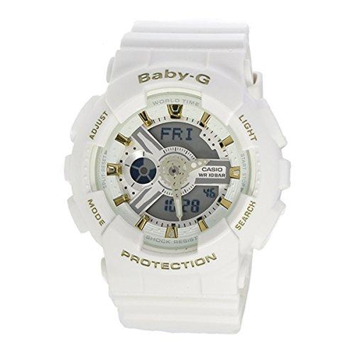 G-Shock BA-110GA Gold Accent Series White - White / One Size