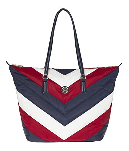 Tommy Poppy Hilfiger Chevron Corporate Tote PqwYHO4w