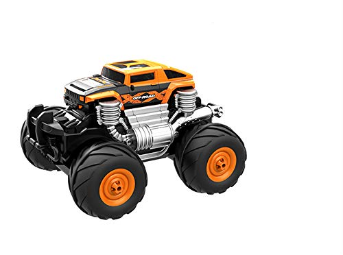 DIY Puzzle Toys,Amphibious Waterproof Remote Control Car, 2.4G Remote Charging Children's Toys, Boys and Girls, Hummer Modeling, Four-Wheel Assembly, Best Gift.(Orange)