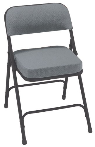 Premium Black Fabric Seat (National Public Seating 3200 Series Steel Frame Upholstered Premium Fabric Seat and Back Folding Chair with Double Brace, 300 lbs Capacity, Charcoal Gray/Black (Carton of 2))
