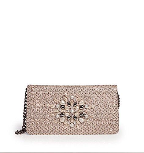 Eric Javits Luxury Fashion Designer Women's Handbag - Devi Clutch - Taupe Glow by Eric Javits (Image #3)