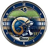 St. Louis Rams Round Chrome Wall Clock