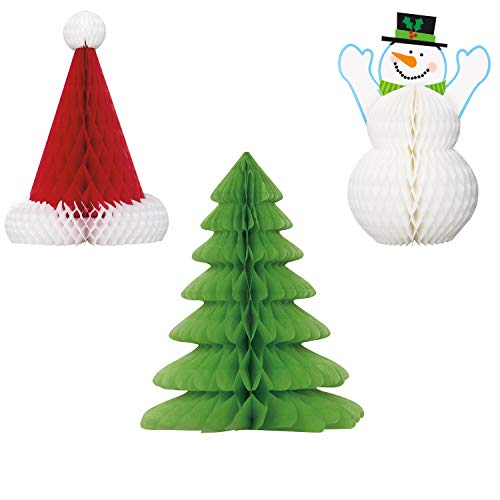 Unique Christmas Centerpieces Party Bundle   3 Count   Great for Christmas Parties, Holiday Celebrations, and Themed Gatherings (Unique Christmas Centerpieces)