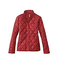 Barbour Womens Rae Loch Quilted Small Jacket, 4, Red