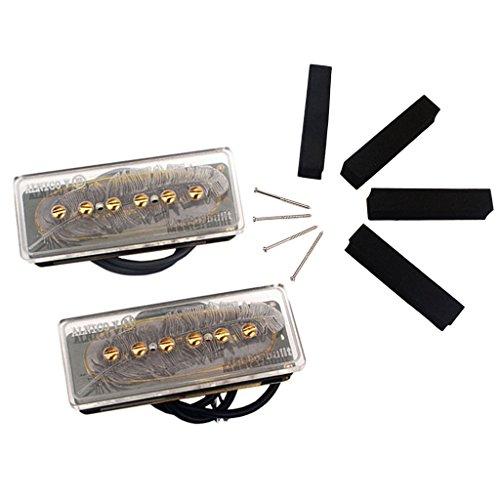 Homyl 2Pcs Electric Guitar Clear Soap Bar P90 Humbucker Pickup 50/52mm (Coil Soap Bar Humbucker)
