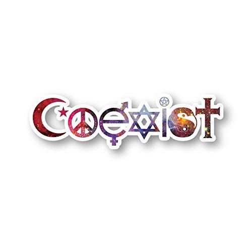 Coexist Vinyl Decal Sticker Window Laptop SUV Bumper