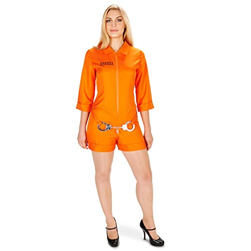Orange Prisoner Jumpsuit Adult Costume M