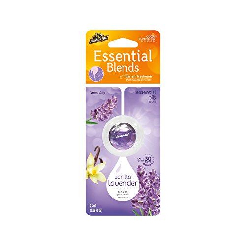 Armor All 18556 Essential Blends Air Freshening Vent Clip Vanilla Lavender Scent 0.08 fluid ounces