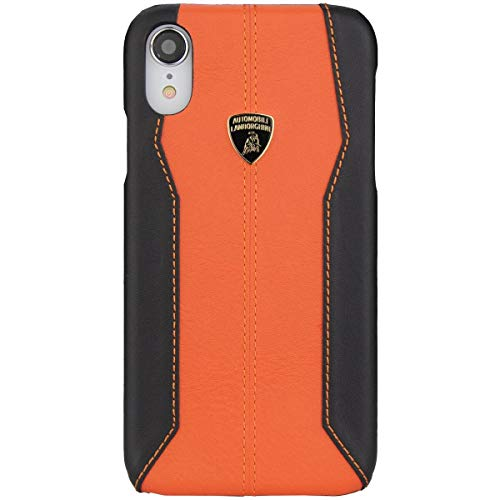Lamborghini Huracan-D1 Leather Back Cover Case for iPhone XR (Orange)
