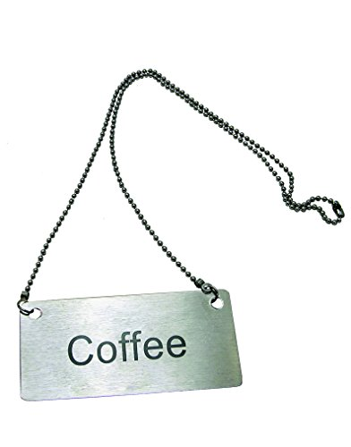 (Update International CS-CFE Stainless Steel Beverage Chain Sign, Coffee, Stainless Steel)