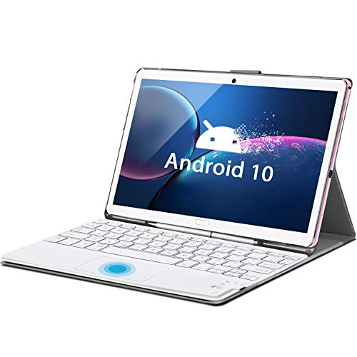 Tablet 10.8 Inch Android 10 Tablet PC with Keyboard, Deca-Core, 6 GB RAM 128 GB ROM/512 GB, 4G Tablets with SIM Card…