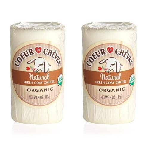 Coeur De Chevre Natural Organic Fresh Goat Cheese 4 oz (Pack of 2)