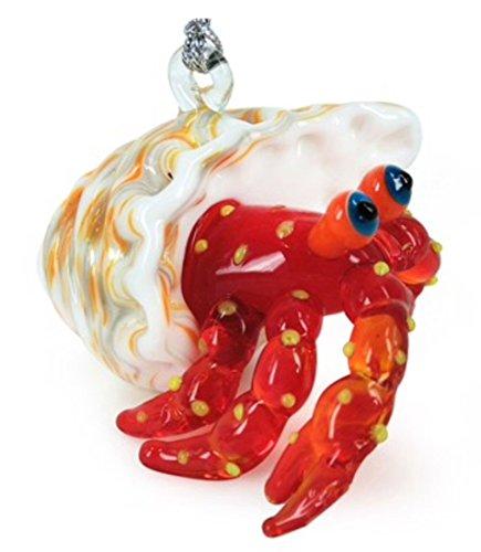 dynasty glass Glassdelights Hermit Crab Glass Christmas Tree Ornament Sea Life Decoration New
