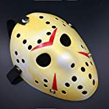 Culturemart Halloween Realistic Scary Jason Mask Plastic Horror Party Masks for Dance Gathering Festival Funny Mask Masquerade Props