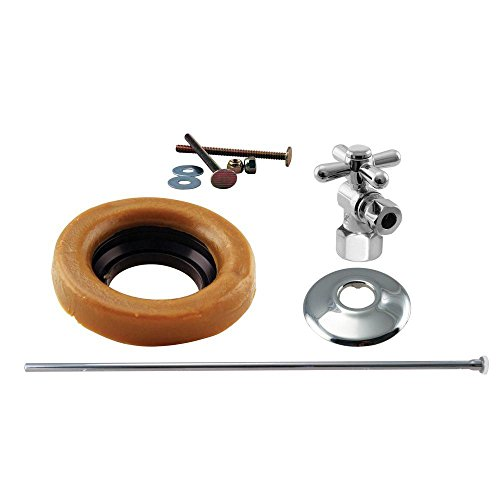 Chrome Cross Ring - Westbrass Toilet Installation Kit with 1/4-Turn 1/2
