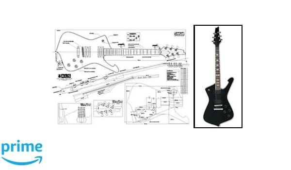 Plan de Ibanez Iceman guitarra eléctrica - escala completa impresión: Amazon.es: Instrumentos musicales