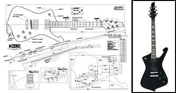 Plan de Ibanez Iceman guitarra eléctrica - escala completa impresión