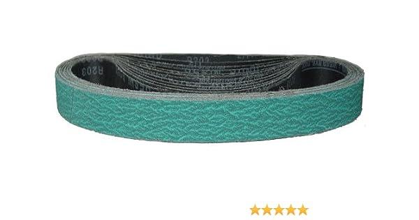 """Hardin HPG36-10 1-1//2/"""" x 30/"""" Aluminum Oxide Sanding Belt 36 Grit  Pack of 10"""