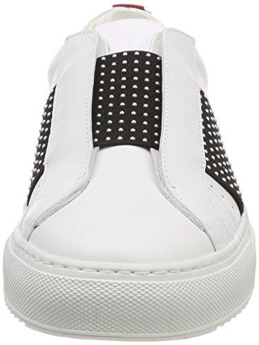 Mujer sin White Cut Low St Zapatillas para 100 Blanco Cordones Hugo Uptown 1cq74BwOxn