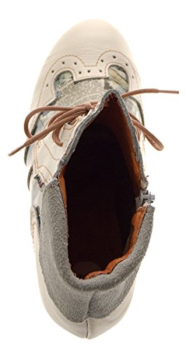 Tma Dames Enkellaarzen Lederen Comfort Van Laarzen Lederen Lage Schoenen Tma 6188 Gr 36 -. 42 Kent Cream