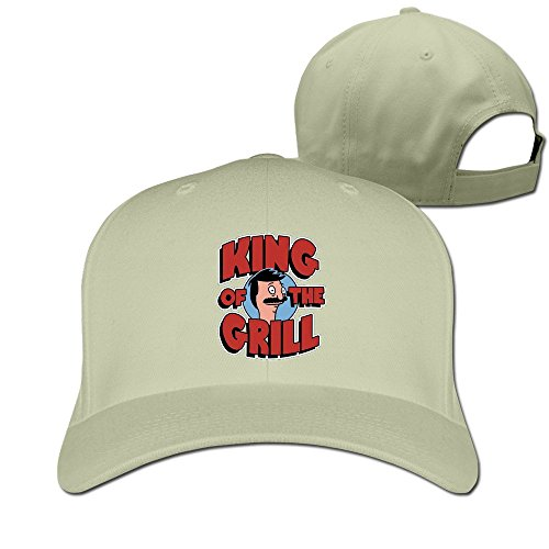King Of The Grill Adjustable Plain Hat - Man Grill Natural Kings