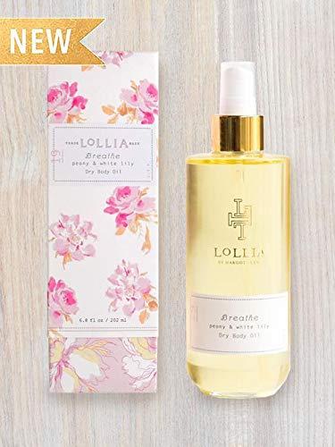 (Lollia Breathe Peony & White Lily Dry Body Oil)