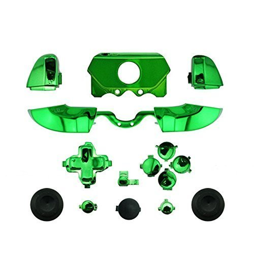 Bumpers Triggers Buttons DPad LB RB LT RT Xbox One Elite Controller Chrome Green (Green One Chrome Xbox Controller)