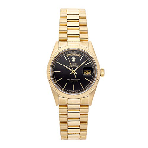 Rolex Day-Date Mechanical (Automatic) Black Dial Mens Watch 18038 (Certified Pre-Owned) ()