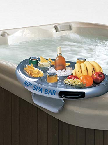 Life Floating Spa Bar Inflatable Hot Tub Side Tray for Drinks and ()