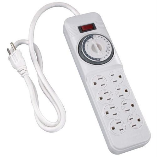 Westek TM08DHB Decorative Indoor Power Strip Timer