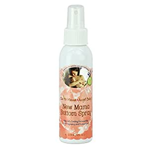 Earth Mama New Mama Bottom Spray, Natural Herbal Pregnancy & Postpartum Spray, Soothing Before and After Childbirth, 4 fl. oz.