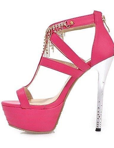 ShangYi Womens Shoes Leatherette Stiletto Heel Heels / Platform Sandals Wedding / Party & Evening / Blue / Yellow / White Blue